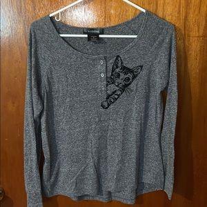 Gray Cat Sweater